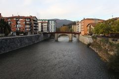 Agua fresca y fría del río europeo Fotografía de archivo