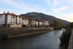 Agua fresca y fría del río europeo Imagen de archivo