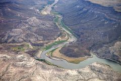 Agua. The Agua Fria River in Maricopa County Arizona Stock Photos