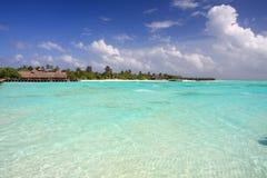 Agua hermosa en maldives Imagen de archivo libre de regalías