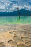 Agua Hierve el, естественные горные породы в мексиканском положении  Стоковая Фотография RF
