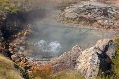 Agua hirvienda en una piscina termal Foto de archivo libre de regalías
