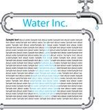 Agua inc. stock de ilustración
