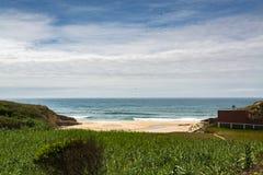 Agua Madeiros plaża w Sao Pedro De Moel, Portugalia Obraz Stock