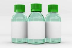 Agua mineral del vidrio bottle Fotos de archivo libres de regalías