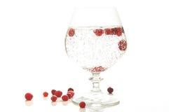 Agua mineral en un vidrio Imágenes de archivo libres de regalías