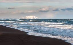 Agua, océano, arena, costa, península, Océano Pacífico, canotaje foto de archivo libre de regalías