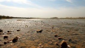 Agua poco profunda cerca de la orilla metrajes