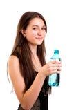 Agua potable de la mujer de Succesfull Fotos de archivo libres de regalías