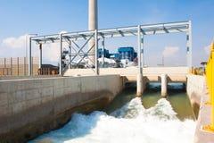 Agua potable del desbloquear de Watergate después de tratado Fotos de archivo