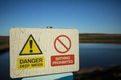 Agua profunda del peligro Imagen de archivo libre de regalías