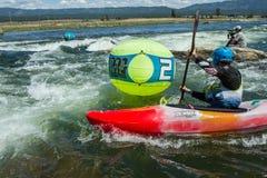 Agua que compite con en los juegos del río del payette Fotos de archivo