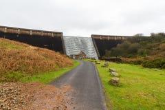Agua que conecta en cascada abajo de la presa de Avon, Dartmoor Imagen de archivo