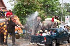 Agua que salpica festival en Tailandia Foto de archivo