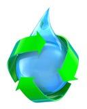 Agua reciclada Imágenes de archivo libres de regalías