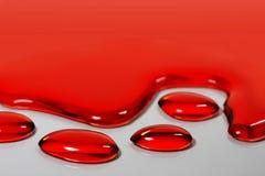 Agua roja foto de archivo libre de regalías