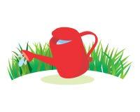 Agua roja de la regadera Imagen de archivo libre de regalías