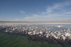 Agua salada de la laguna, Chile Foto de archivo libre de regalías