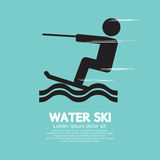 Agua Ski Sport Sign Fotos de archivo libres de regalías