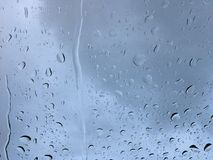 Agua sobre el vidrio Imagen de archivo