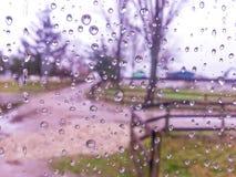 Agua sobre el vidrio Imagen de archivo libre de regalías