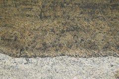Agua subterránea y suelo negros Foto de archivo