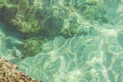 Agua transparente del océano Fotografía de archivo