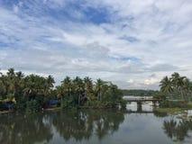 Agua trasera de Kerala Fotografía de archivo