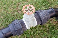 Agua usada control de la válvula en el parque Foto de archivo libre de regalías