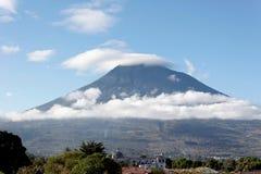 The Agua Volcano in Antigua, Guatemala. stock photography