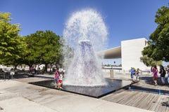 Agua Volcano Park de las naciones Lisboa Fotos de archivo libres de regalías