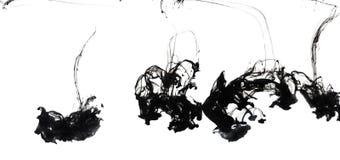 Agua y blanco aislado tinta negra Imagen de archivo libre de regalías