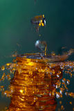 Agua y dinero Fotos de archivo
