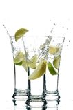 Agua y limón Fotografía de archivo
