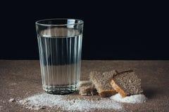 Agua y pan, sal Imagenes de archivo