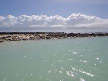 Agua y pista Foto de archivo libre de regalías