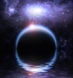 Agua y planetas Foto de archivo libre de regalías