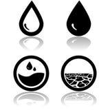 Agua y sequía libre illustration