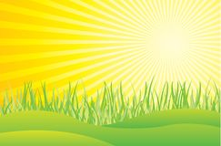 Agua y sol stock de ilustración