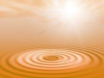 Agua y sol Imagen de archivo