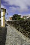 Aguaa de普拉塔Aqueduct (银色水渡槽)在Évora, Po 免版税图库摄影