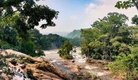 AguaAzul vattenfall, Chiapas, Mexico fotografering för bildbyråer