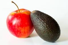 Aguacate y manzana Fotografía de archivo libre de regalías