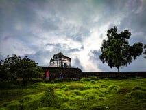 Aguada fort, Goa, Arkivfoto