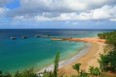 aguadilla海滩crashboat波多里哥 免版税库存图片