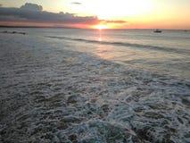 Aguadilla Puerto Rico Bay Sunset stock fotografie