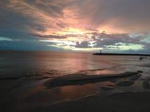Aguadilla Puerto Rico Beach Sunset imagens de stock royalty free