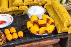 Aguaje, Peruviaans Fruit Uit de Amazone Stock Foto's
