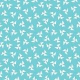 Aguamarina geométrica del modelo del molinillo de viento del inconformista inconsútil azul ilustración del vector