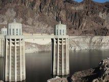 Aguamiel del lago en la presa de Hoover Imágenes de archivo libres de regalías